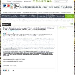 Delphine Batho lance un nouvel appel d'offres pour 1000 mégawatts d'éoliennes en mer au large du Tréport et des deux îles d'Yeu et de Noirmoutier