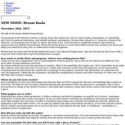 NEW NOISE: Dream Koala