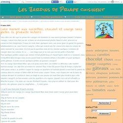 Cake marbré aux noisettes, chocolat et courge sans gluten ni produits laitiers - Les Jardins de Priape cuisinent