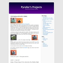 3310 Nokia LCD & PIC 12f683 « Pyrofer's Projects