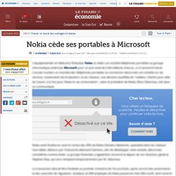 Nokia cède ses portables à Microsoft
