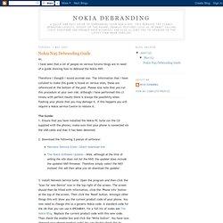Nokia N95 Debranding Guide