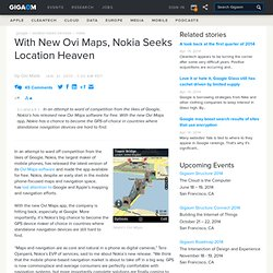 With New Ovi Maps, Nokia Seeks Location Heaven