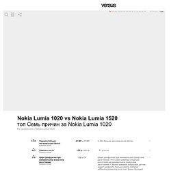 Nokia Lumia 1020 vs Nokia Lumia 1520 - Мобильные Телефоны Сравнение Характеристики