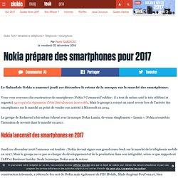 Nokia prépare des smartphones pour 2017