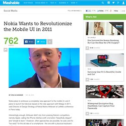 Nokia Wants to Revolutionize the Mobile UI in 2011
