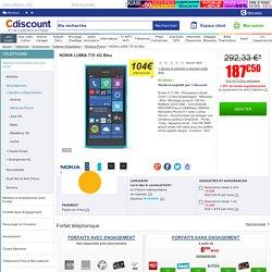 NOKIA LUMIA 735 4G Bleu - Achat / Vente SMARTPHONE NOKIA LUMIA 735 4G Bleu