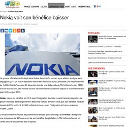Nokia voit son bénéfice baisser