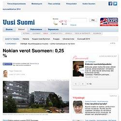 Nokian verot Suomeen: 0,25 %