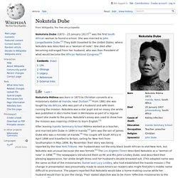 Nokutela Dube 1873-1917