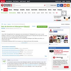 Domaine et hébergement - CommentCaMarche