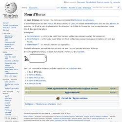 Nom d'Horus