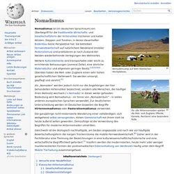 Nomadismus