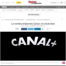 Le nombre d'abonnés Canal+ en chute libre