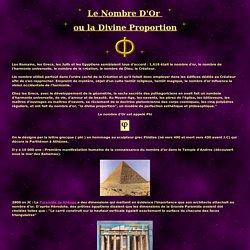 Phi - Le Nombre d'Or - La Divine Porportion - l'ADN Divin