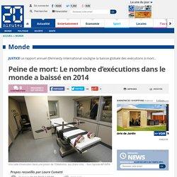 Peine de mort: Le nombre d'exécutions dans le monde a baissé en 2014