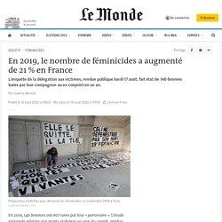 En2019, le nombre de féminicides a augmenté de 21% en France