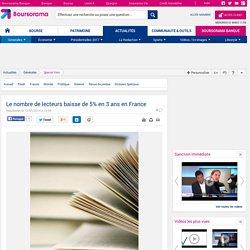 Le nombre de lecteurs baisse de 5% en 3 ans en France