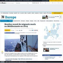 Nombre record de migrants morts en Méditerranée en 2014