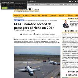 IATA : nombre record de passagers aériens en 2014