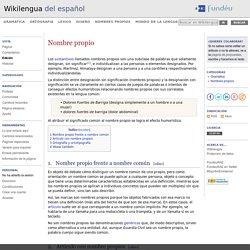 Nombre propio - Wikilengua