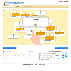 Un exemple d'application trouvée sur Learningapps.org