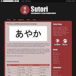 Sutori: Nombres y apellidos japoneses para tu manga