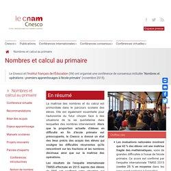 Nombres et calcul au primaire