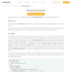 Python: nb de nombres premiers inférieurs à n
