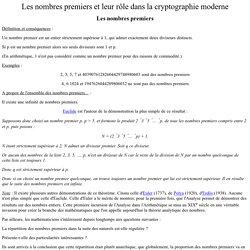 Les nombres premiers et leur rôle dans la cryptographie moderne