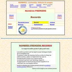 nombres premiers - records