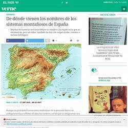 De dónde vienen los nombres de los sistemas montañosos de España