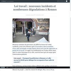 Loi travail: nouveaux incidents et nombreuses dégradations à Rennes