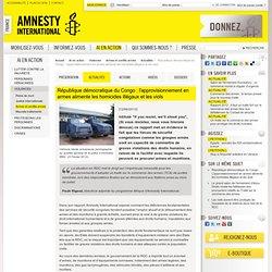 RDC : les armes, outils de nombreuses violations des droits humains