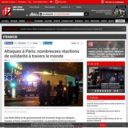 Attaques à Paris: nombreuses réactions de solidarité à travers le monde