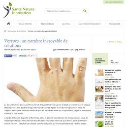 De nombreux traitements naturels efficaces contre les verrues