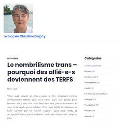 Le nombrilisme trans – pourquoi des allié-e-s deviennent des TERFS