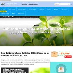 Guía de Nomenclatura Botánica: El Significado de los Nombres de Plantas en Latín. - Piedra artificial Balaustres Martínez
