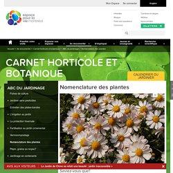 Nomenclature des plantes