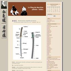 Nomenclature simplifiée du katana - Le Blog de Maryline (aïkido / iaïdo)