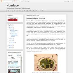 Nomface: Brasserie Zédel, London