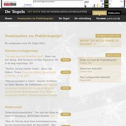 Nominaties en Publieksprijs! - De Tegels
