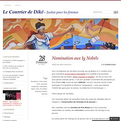 Nomination aux Ig Nobels « Le Courrier de Diké