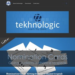 Nomination Cards: Giving students a chance to speak – tekhnologic