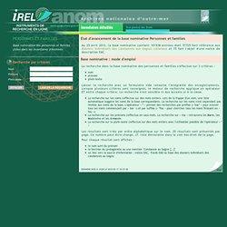 Base nominative Personnes et Familles IREL