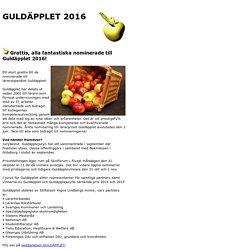 Nominerade till GULDÄPPLET 2016