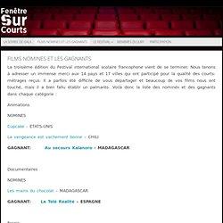 Films Nomines et les Gagnants - FENETRE SUR COURTS