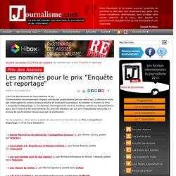 """Les nominés pour le prix """"Enquête et reportage"""""""