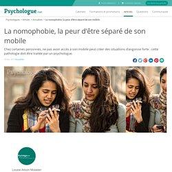 La nomophobie, la peur d'être séparé de son mobile