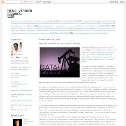 Non, les données ne sont pas du pétrole...